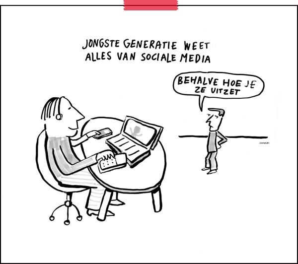 Tekenaar aan Tafel | cartoon: Cunera Joosten | generatieverschillen |