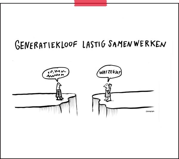 Tekenaar aan Tafel | cartoon: Cunera Joosten | generatiekloof |