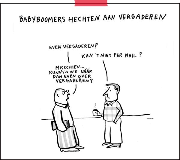 Tekenaar aan Tafel | cartoon: Cunera Joosten | babyboomers |