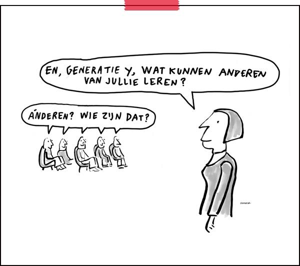 Tekenaar aan Tafel | cartoon: Cunera Joosten | generatie Y |