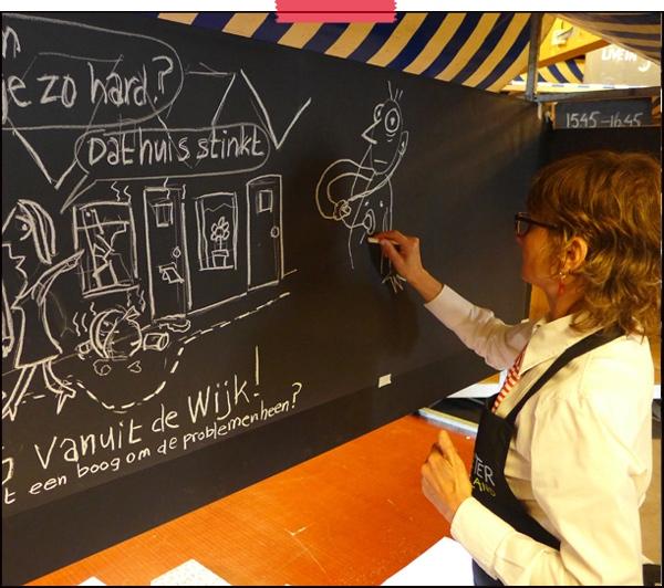 Femke van Heerikhuizen   Tekenaar aan Tafel   live tekenaar