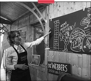Femke van Heerikhuizen tekent op locatie | Amsterdam | presentatie | event | opdracht: Samenbeter |